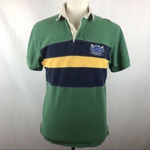 Vtg Polo Ralph Lauren Mens Canoe Patch Rivets Polo
